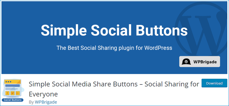 Simple Social Media Share Buttons